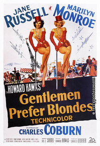Plakát: Gentlemen Prefer Blondes