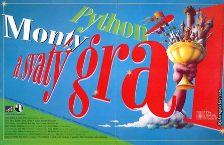 Film poster: Monty Python and the Holy Grail