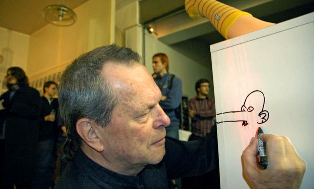 Otevření Terryho ponožek za účasti Terryho Gilliama