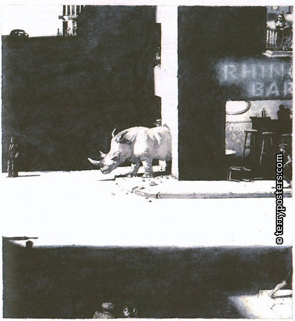 Rhino bar; Drawing; 2007; 29 x 31 cm